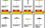 Outdoor Shelta Umbrellas